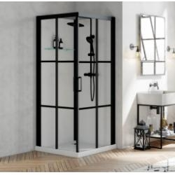 Cabine de douche BROOKLYN FACTORY 90x90 cm - Portes coulissantes