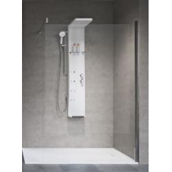 Colonne de douche hydromassante DRESS S Thermostatique - Blanc Brillant