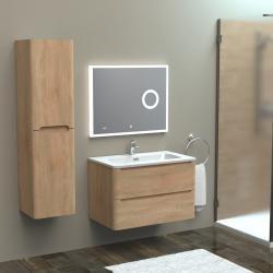 Meuble simple vasque 80cm TOOLA Bois Clair
