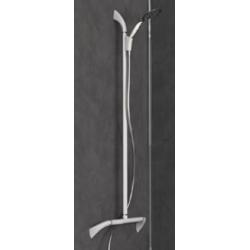 Barre de douche en T inversé avec douchette aimantée