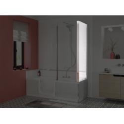 Retour d'angle transparent pour pare-bain DUO - 75 cm