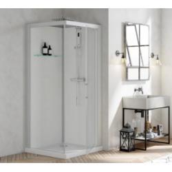 Cabine de douche BROOKLYN 90x90 cm - Porte pivotante