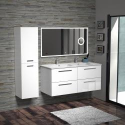Meuble double-vasques BIZ 120 cm Blanc Brillant