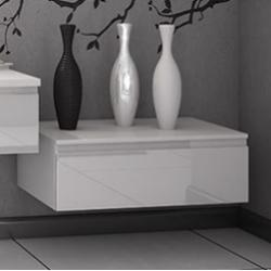 Meuble bas de rangement VOGUE/LOFT 90 cm Boréale Blanc