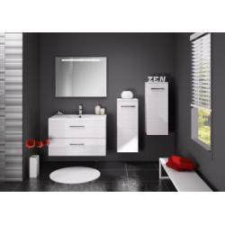 Meuble simple vasque LOFT 70 cm Serigloss Blanc