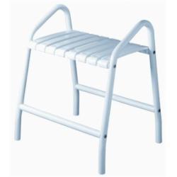 Tabouret de douche assise grande taille - 2 poignées - Blanc