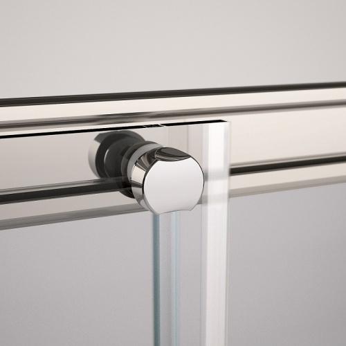 Porte coulissante Zephyros 2A 150cm verre Fumé, profilés Silver Zephyros cuscinetto