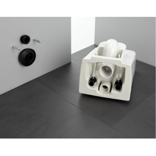 Pack WC Bâti-support Evo + Cuvette sans bride Rimless + Plaque Blanche Easyfit 02