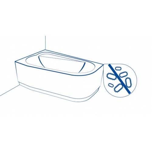 Baignoire rectangulaire 180x80 Virgo sans tablier Anti bactérien