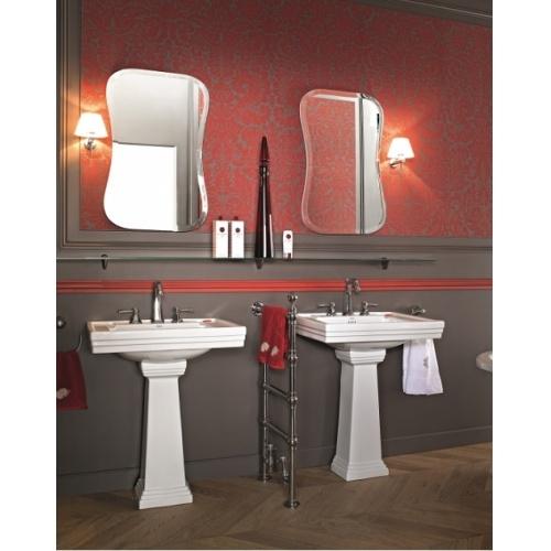 Lavabo 3 trous + colonne rétro céramique noire Ascott Ascott ceramique 2 lavabos
