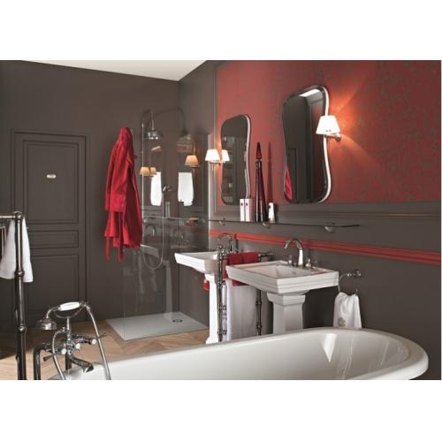 Lavabo 3 trous + colonne rétro céramique noire Ascott Ascott ceramique baignoire lavabos douche angle