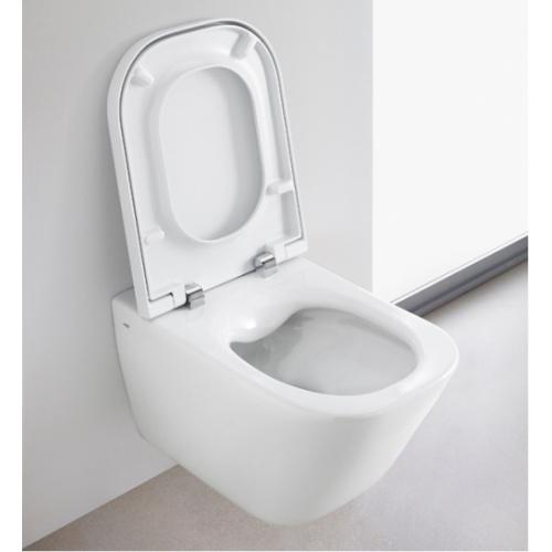 Pack WC Geberit UP320 + Cuvette GAP sans bride Cleanrim + plaque Sigma CHR brillante Cleanrim roca