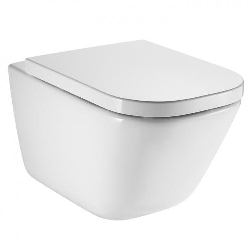 Pack WC Geberit UP320 + Cuvette GAP sans bride Cleanrim + plaque Sigma CHR brillante Cleanrim roca 0