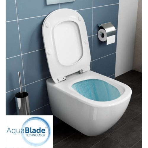 Pack WC Geberit UP320 + Cuvette AquaBlade TESI + Sigma Chromé Brillant Tesi eau 1