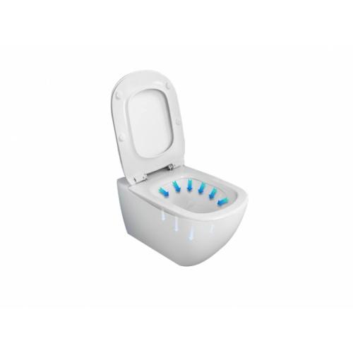 Pack WC Geberit UP320 + Cuvette AquaBlade TESI + Sigma Chromé Brillant Tesi fleche bleue 2