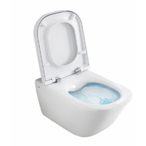 Pack WC Grohe Rapid SL + Cuvette GAP Cleanrim Roca + Plaque Chromée Gap