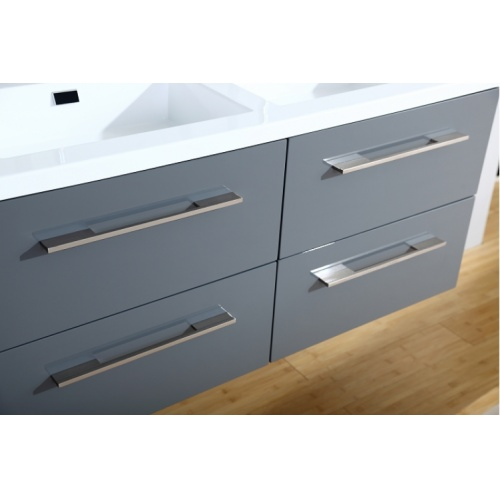 Meuble double vasque 117 Saturn 2.0 Gris Brillant sans miroir 0 120 gris 4