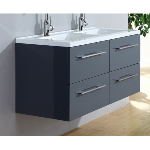 Meuble double vasque 117 Saturn 2.0 Gris Brillant sans miroir 0 120 gris 5