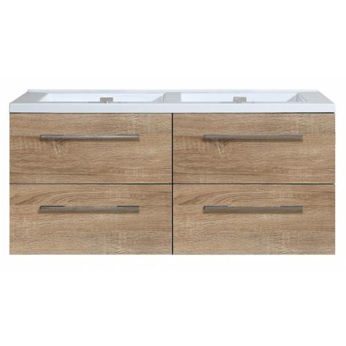 Meuble double vasque 117 Jupiter 2.0 Bois Clair sans miroir 0 120 bois clair