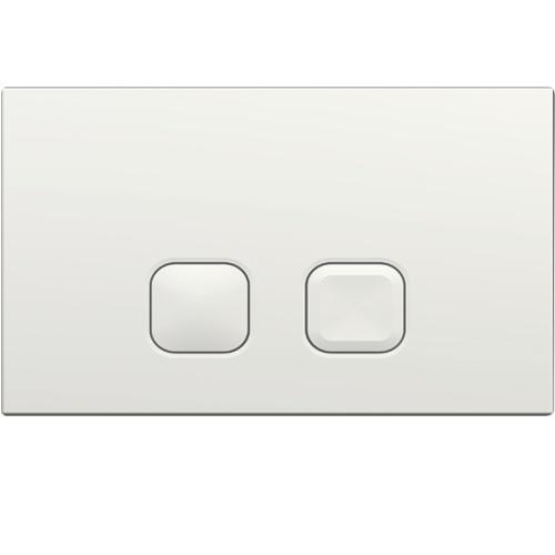 Pack WC Bâti-support Evo + Cuvette sans bride Rimless + Plaque Blanche Plaque PLAIN Blanche Regiplast - 183B