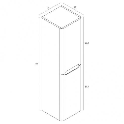 Colonne de salle de bain TOOLA 135cm Argile Plan colonne toola