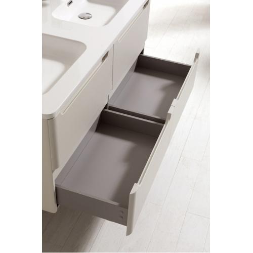 Meuble double vasque 120cm TOOLA Blanc Brillant sans miroir 2r2a9576