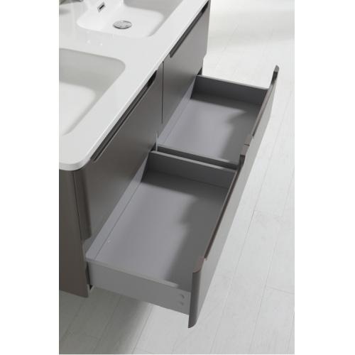 Meuble double vasque 120cm Toola Argile sans miroir 2r2a9536