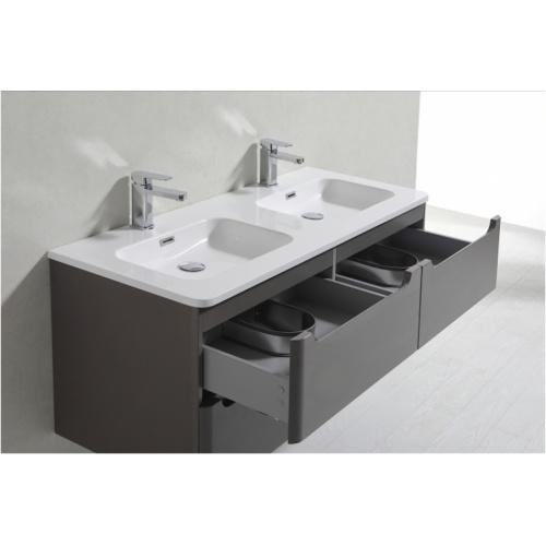 Meuble double vasque 120cm Toola Argile sans miroir 2r2a9538