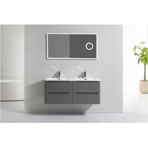 Meuble double vasque 120cm Toola Argile sans miroir 2r2a9539