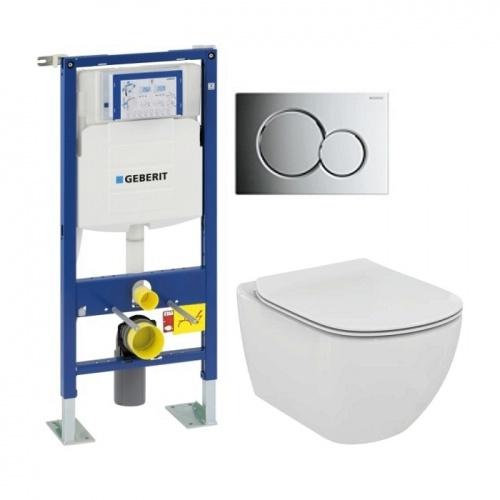 Pack WC Geberit UP320 + Cuvette AquaBlade TESI + Sigma Chromé Brillant