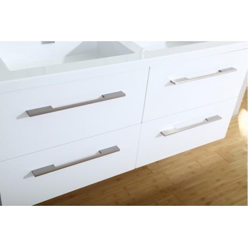 Meuble double vasque 117 Saturn 2.0 Blanc Brillant SANS miroir 0 120 blanc brillant tiroirs