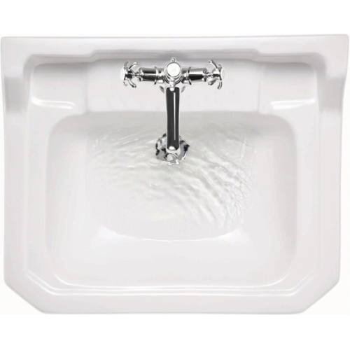 Vasque rectangulaire et demi-colonne Edouardien BURLINGTON 56 cm Edwardian basins b5 top t