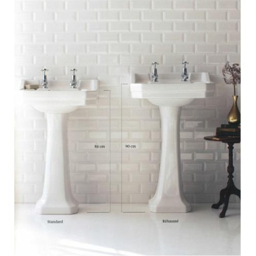 Vasque rectangulaire et colonne réhaussée Edouardien BURLINGTON 56 cm Img 171010095951 0001