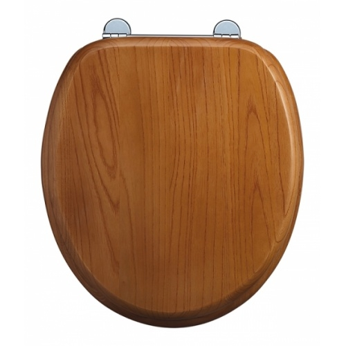 WC BURLINGTON avec levier de réservoir en céramique Taille basse 520 - Abattant frein de chute Chêne Abattant standard burlington s16 chêne sans poignée