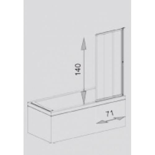 Paroi de baignoire LOFT Screen pivotante - JACUZZI* Loft screen paroi de baignoire côtes jacuzzi