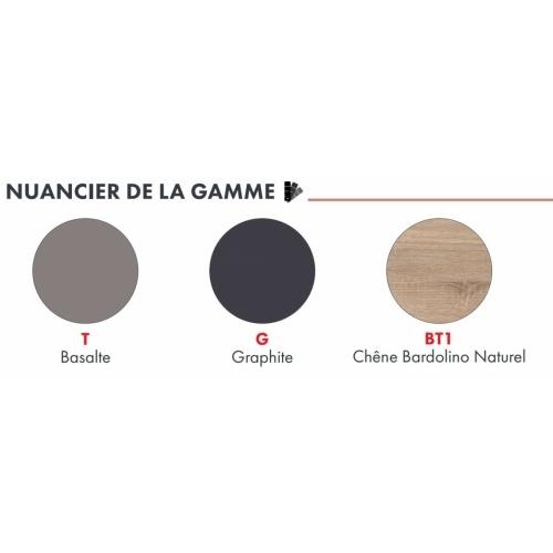 Meuble DECO-CLIP Basalte + Évier à poser SINOPE en inox Nuancier deco clip