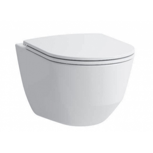 Pack WC Bâti-support Evo + Cuvette sans bride Rimless + Plaque Blanche Cuvette rimless + abattant slim