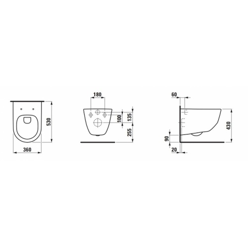 Pack WC Bâti-support Evo + Cuvette sans bride Rimless + Plaque Blanche Cuvette rimless