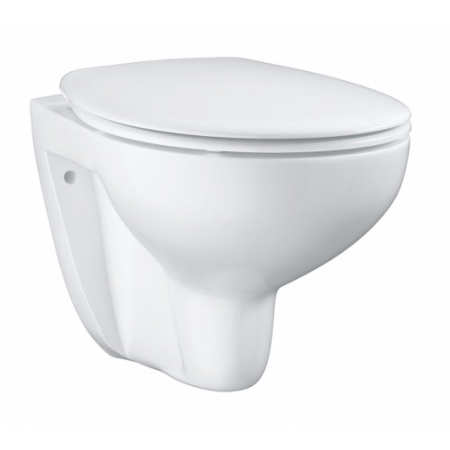 Pack WC Geberit UP320 + Cuvette GROHE sans bride Bau Ceramic + plaque sigma CHR brillante Bau ceramic wc suspendu 39351000