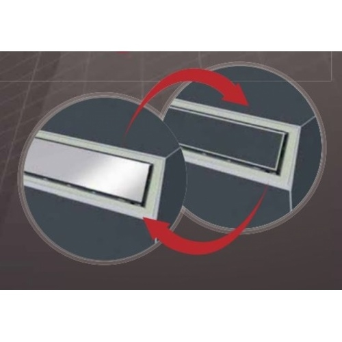 Caniveau de sol à carreler Venisio expert 700 mm - 30720833 Venisio expert grille reversible