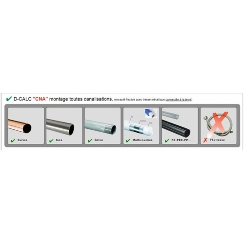 Anti-calcaire électronique D-CALC Jumbo (5-10 pers) D calc montage ttes canalisations