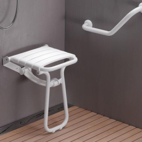 Siège de douche escamotable Blanc* Siege de douche blanc (2)