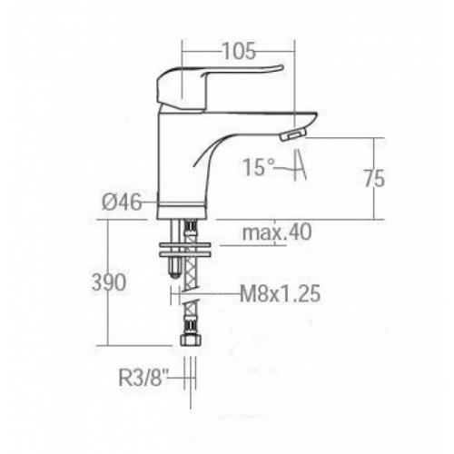 Mitigeur lavabo YPSILON Plus - Ramon Soler* Ypsilon 6402 Schéma