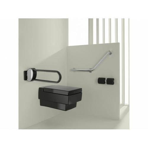 Barre d'appui relevable Blanc 60 cm ARSIS - 048660 Barre relevable arsis 600 mm aluminium epoxy gris anthracite (2)
