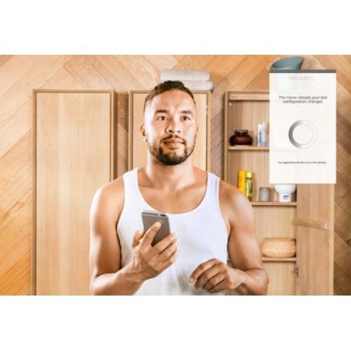 Miroir connecté Smart Mirror Eternity 90x75 cm ADN Staendig neue Apps