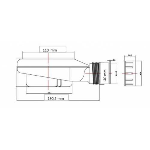 Receveur de douche souple SOFT Gris Béton 70x120cm Bonde SolidSft