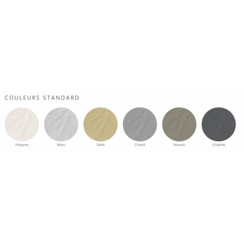 Receveur BASALTO Blanc 100x70cm Coloris Standard PIZARRA 2019