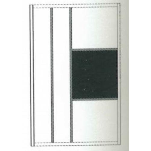 Paroi de douche sérigraphiée MOSAIC C Noir mat 100 cm MOSAIC C Schéma