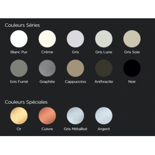 Receveur de douche RADIANCE texture Lisse Noir 80x90 cm Coloris Quare