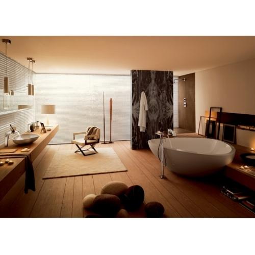Mélangeur lavabo 3 trous mural bec long Axor Massaud - 18115000 Massaud_Bathroom